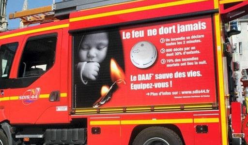 Les incendies en France